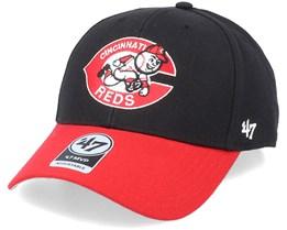 Cincinnati Reds Cooperstown Mvp Two Tone Black/Red Adjustable - 47 Brand
