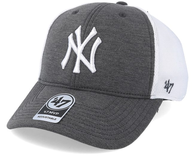 new arrival e393f f85a7 New York Yankees Charcoal Haskell Adjustable - 47 Brand cap - Hatstore.co.in
