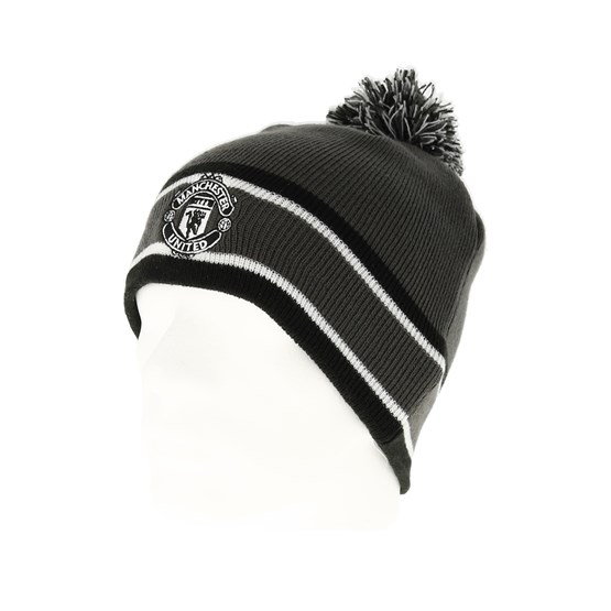 Manchester United Bobble Skull Gray Pom New Era