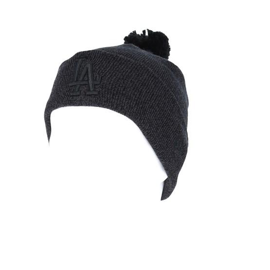 ecf575aa Los Angeles Dodgers Womens Essential Bobble Knit Black Beanie - New Era  beanies   Hatstore.co.uk