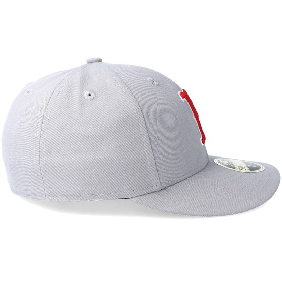 336aff0b Boston Red Sox Poly Low Profile 59Fifty Grey Fitted - New Era caps -  Hatstoreworld.com