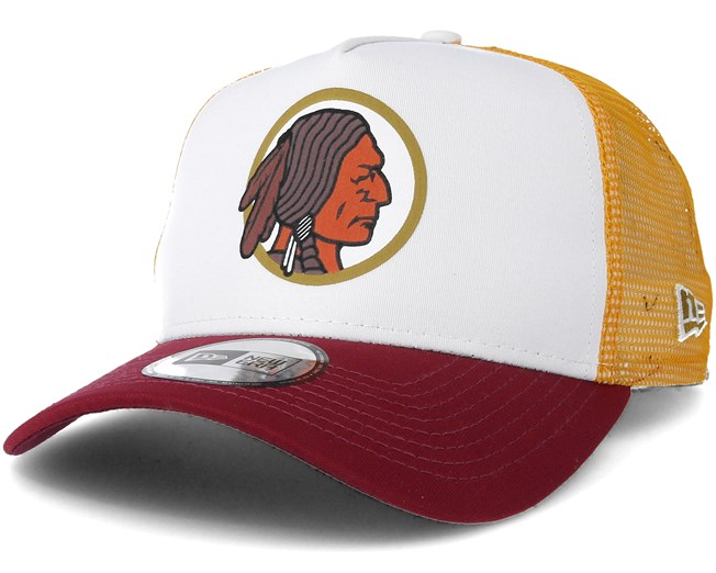 5f2263d6dc56c6 Washington Redskins Throwback Trucker White Adjustable - New Era caps -  Hatstoreworld.com