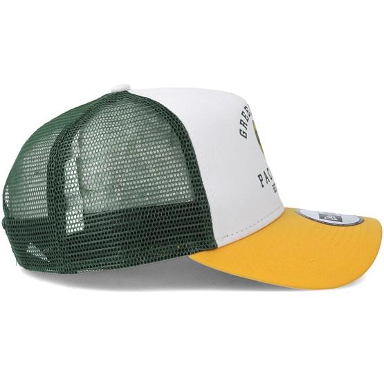 a5676a8f6 Green Bay Packers Throwback Trucker White Adjustable - New Era caps -  Hatstoreworld.com