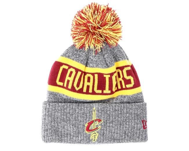 f188efe6665 Cleveland Cavaliers Marl Knit Gray Beanie - New Era beanies -  Hatstoreworld.com