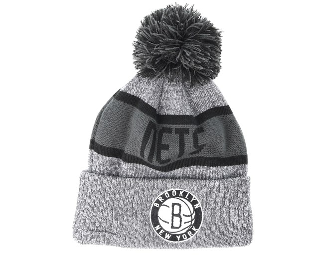 Brooklyn Nets Marl Knit Gray Beanie - New Era - Start Cappellino - Hatstore 35b86416ff1e