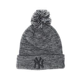 New York Yankees Marl Bobble Knit Grey Pom - New Era beanies ... 4ea72c7b06ed