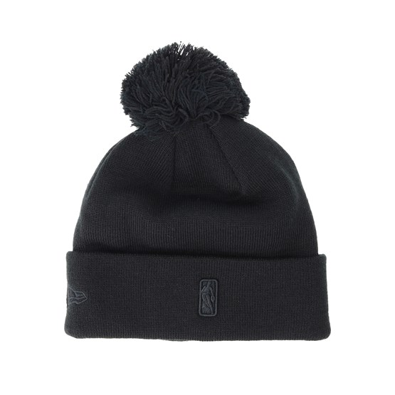 418ea76c1 Chicago Bulls Logo Shine Bobble Black Beanie - New Era mütze - Hatstore.de