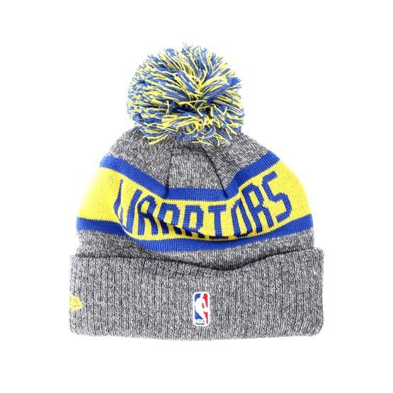 16937bbcfc4 Kids Golden State Warriors Junior Marl Knit Gray Pom - New Era beanies -  Hatstoreworld.com