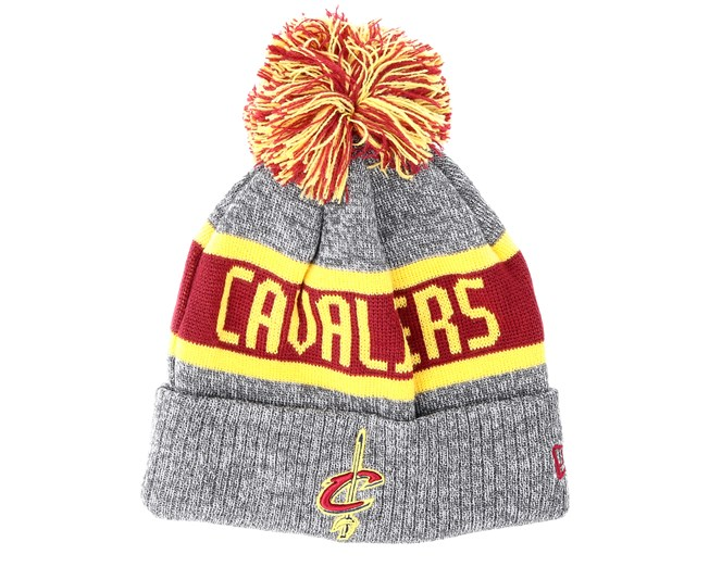 0a87d8f2534 Kids Cleveland Cavaliers Junior Marl Knit Gray Pom - New Era beanies -  Hatstoreworld.com