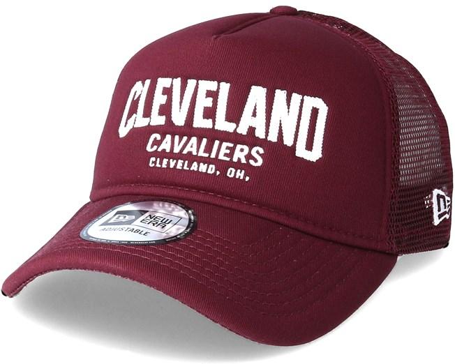 dc8738fb925 Cleveland Cavaliers Chainstitch Trucker Maroon Adjustable - New Era caps -  Hatstoreworld.com