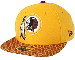 Washington Redskins Sideline 9Fifty Yellow Snapback - New Era