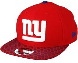 New York Giants Sideline 9Fifty Red Snapback - New Era