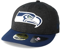 Seattle Seahawks Shadow Tech Low Profile 59Fifty Heather Grey Fitted - New Era