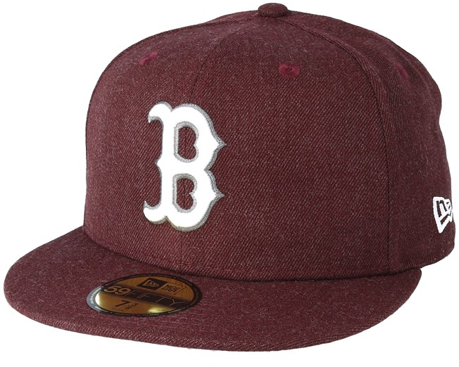0f917c5ff5adc Boston Red Sox Season Heather 9Fifty Maroon Fitted - New Era caps ...