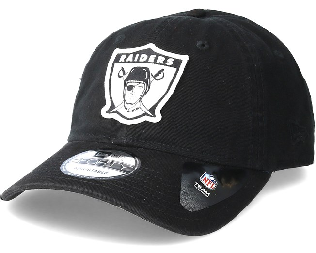 042f3221a84 Oakland Raiders Patch 9Forty Black Adjustable - New Era caps ...