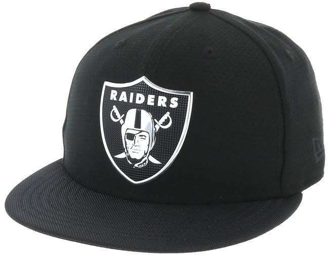 5342187d96e7 Oakland Raiders Black Coll 59Fifty Black Fitted - New Era - Start ...