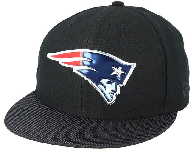 New England Patriots Black Coll 59Fifty Black Fitted - New Era cap ... fef1d739d