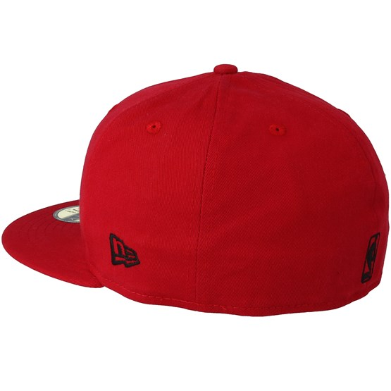 check out ad876 98aec Chicago Bulls Chainstitch 59Fifty Scarlet Fitted - New Era caps -  Hatstoreworld.com
