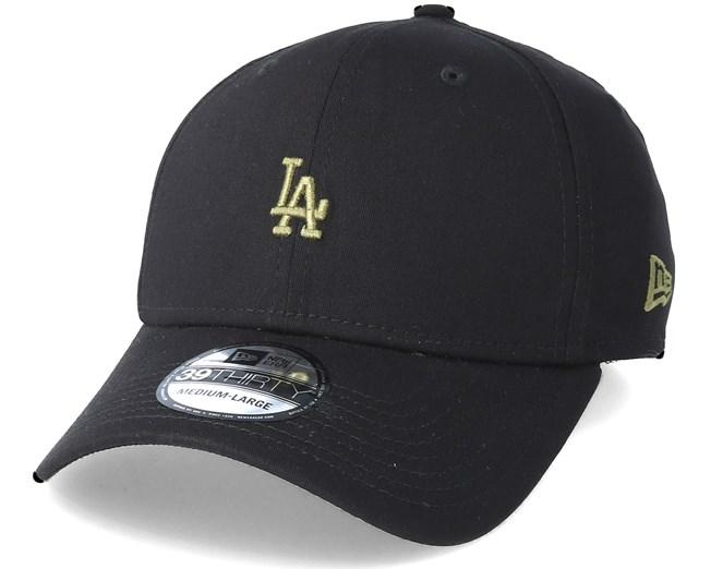 4d269433b1b Los Angeles Dodgers Mini Logo 39Thirty Black Flexfit - New Era caps ...