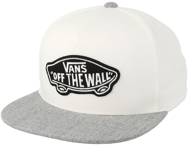 finest selection 130f0 bef39 Classic Patch White Heather Grey Snapback - Vans caps - Hatstoreworld.com