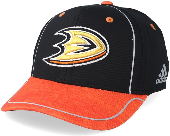 uk availability d722a 72200 Anaheim Ducks Alpha Black/Orange Flexfit - Adidas caps ...