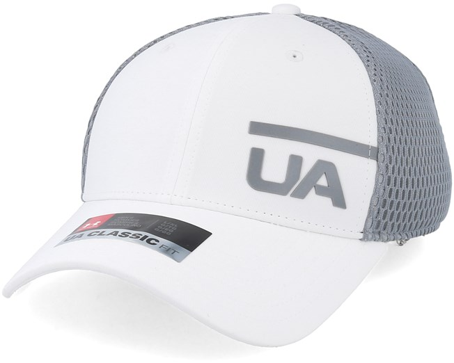 b7a14bc2ed2 Men´s Train Spacer Mesh White Grey Flexfit - Under Armour cap -  Hatstore.co.in