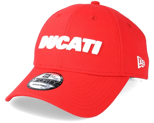 Ducati Essential Wordmark 9Forty Red Adjustable - New Era caps ... 0ba3f8c202ff