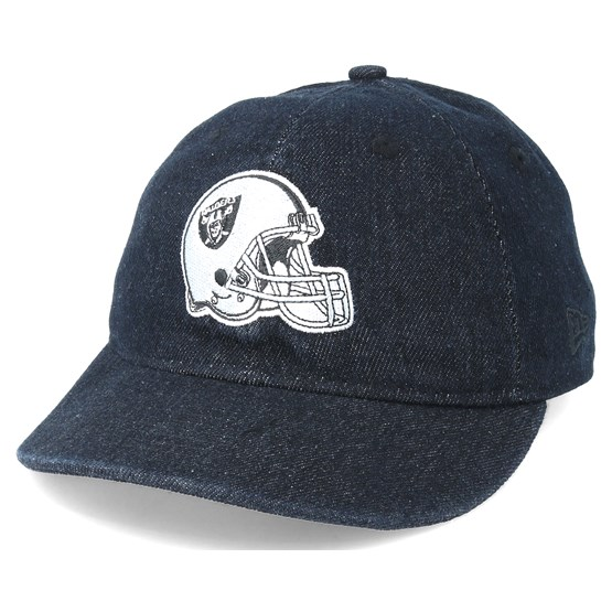 842dedcb67d Oakland Raiders Helmet Low Profile 9Fifty Black Strapback - New Era caps