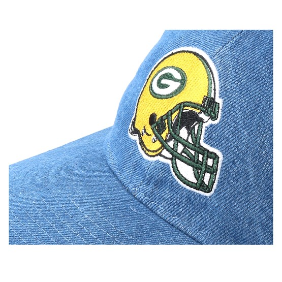 Green Bay Packers Helmet Low Profile 9Fifty Denim Strapback - New Era caps   66a87690c