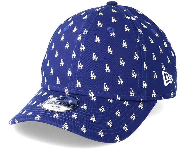 Kids Los Angeles Dodgers Monogram 9Forty Blue Adjustable - New Era cap -  Hatstore.co.in cbf7fadc3937