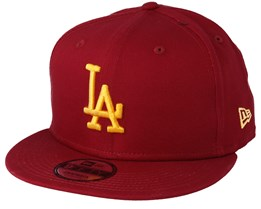 128481211a11d Los Angeles Dodgers League Essential 9Fifty Cardinal Gold Snapback - New Era