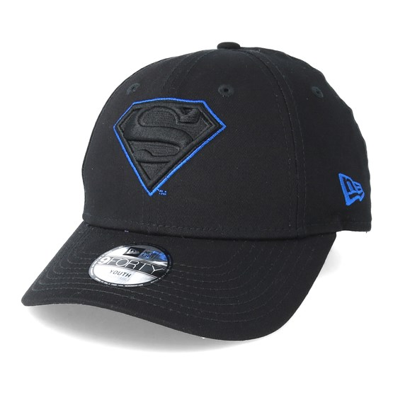 Superman Character 9Forty Black Adjustable - New Era caps -  Hatstoreworld.com dede915f773c