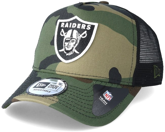 superior quality 0d61a 077bd Oakland Raiders Team 9 Forty Green Camo Trucker - New Era caps - Hatstore.ae