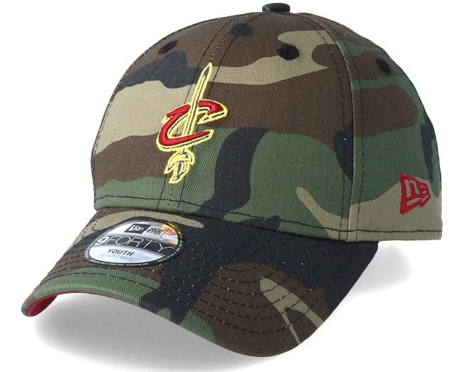 c1dfa0d7e4e Kids Cleveland Cavaliers Team 9Forty Green Camo Adjustable - New Era ...