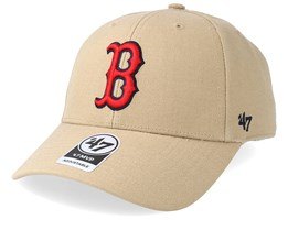 Boston Red Sox 47 Mvp Wool Khaki/Red Adjustable - 47 Brand