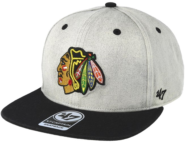 Chicago Blackhawks Clean Up Gray Cement Snapback - 47 Brand caps ... 99d604422426
