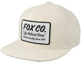 Resin Bone White 110 Snapback - Fox