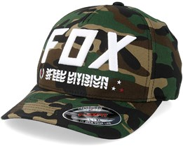 Triple Threat Green Camo/White Flexfit - Fox