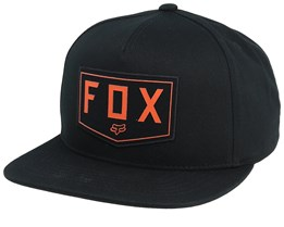 Shield Black Snapback - Fox