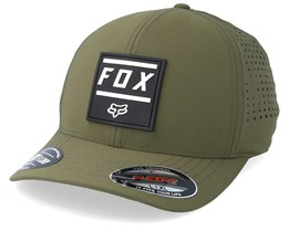 Listless Olive Green/Black Flexfit - Fox