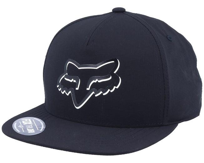 Shaded Snapback Hat Black Snapback - Fox