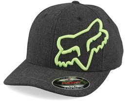 Clouded Heather Black/Lime Green Flexfit - Fox