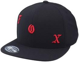 Chop Shop Hat Black Snapback - Fox