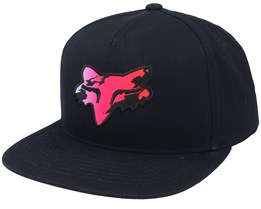 Pyre Hat Black Snapback - Fox