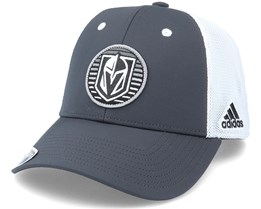 Vegas Golden Knights Mesh Carbon/White Trucker - Adidas
