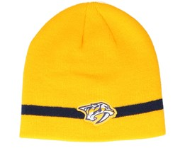 Nashville Predators Coach Yellow Beanie - Adidas