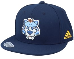 Nashville Predators Mascot Flat Brim Navy Snapback - Adidas