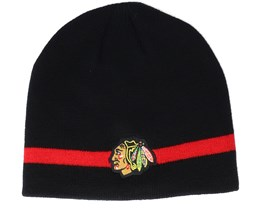 Chicago Blackhawks Coach Black Beanie - Adidas