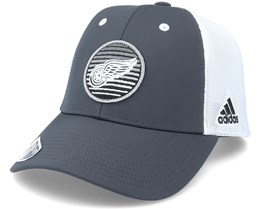 Detroit Red Wings Mesh Carbon/White Trucker - Adidas