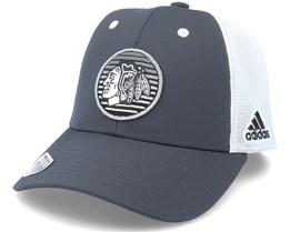 Chicago Blackhawks Mesh Charcoal/White Trucker - Adidas
